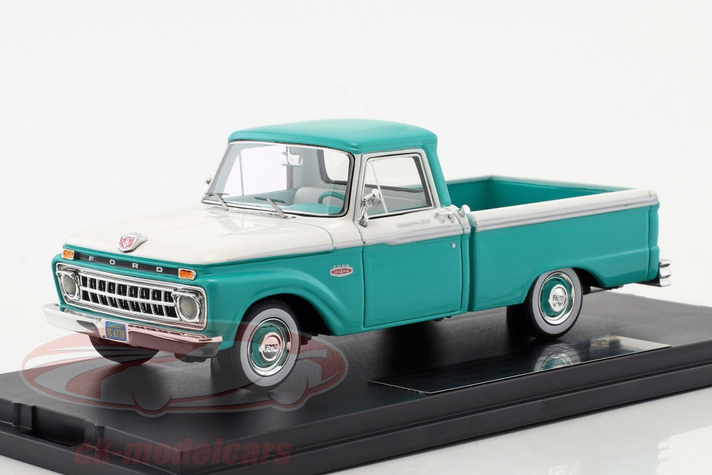 goldvarg-1-43-ford-f-100-pick-up-annee-de-construction-1965-turquoise-blanc-gc-004a-gt-004a/