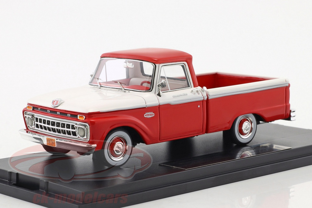 goldvarg-1-43-ford-f-100-pick-up-annee-de-construction-1965-rouge-blanc-gc-004b-gt-004b/