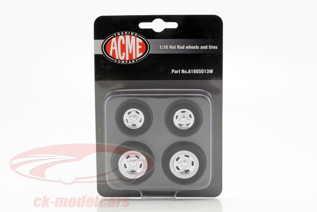 gmp-1-18-hot-rod-wheel-and-tire-set-ford-5-window-a1805013-a1805013w/