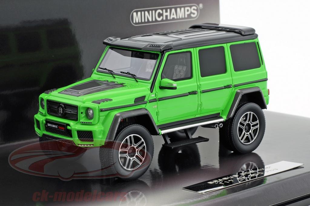 minichamps-1-43-brabus-500-4x4-basato-su-mercedes-benz-g500-4x4-anno-di-costruzione-2016-verde-437032461/