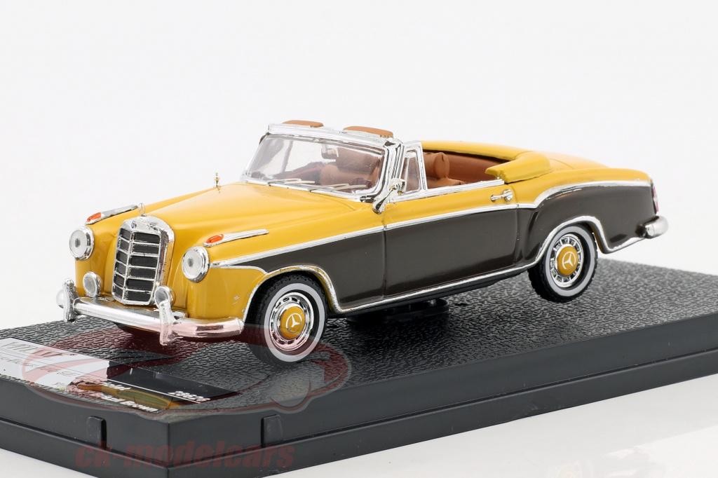 vitesse-1-43-mercedes-benz-220-se-cabriolet-year-1958-yellow-brown-28626/