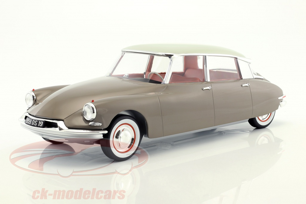 norev-1-12-citroen-ds-19-year-1959-brown-white-121562/