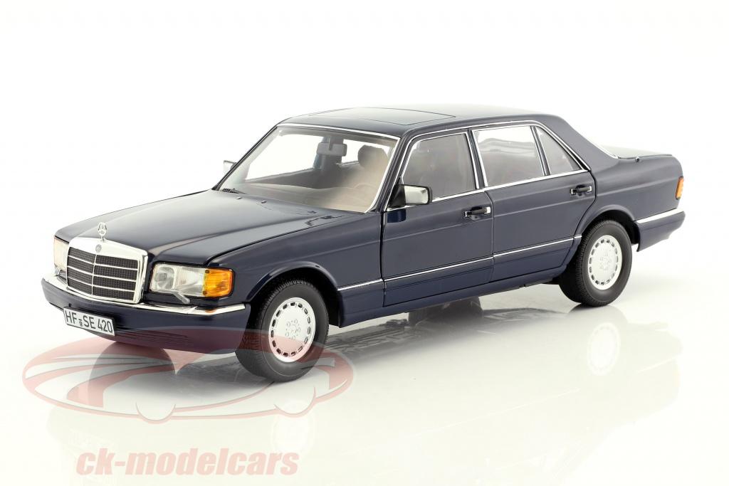 norev-1-18-mercedes-benz-560-sel-w126-annee-de-construction-1991-bleu-fonce-183465/