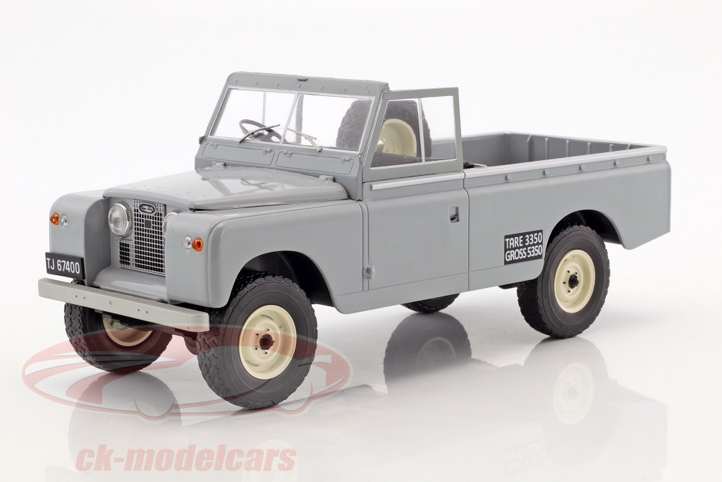 modelcar-group-1-18-land-rover-109-series-ii-pick-up-annee-de-construction-1959-gris-mcg18092/