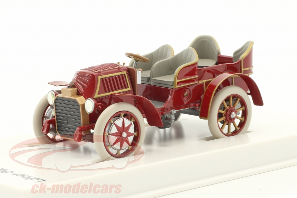 porsche-museum-1-43-lohner-porsche-mixte-coche-ano-de-construccion-1901-rojo-pardo-map02035108/
