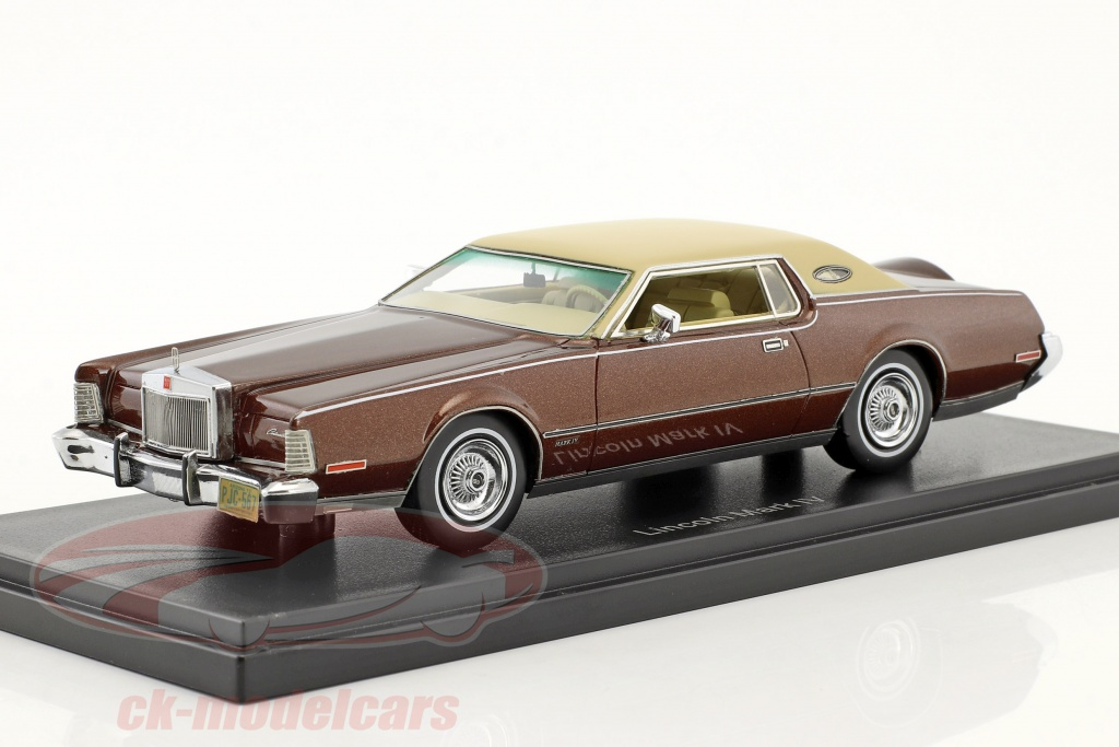 neo-1-43-lincoln-continental-mark-iv-annee-de-construction-1973-brun-metallique-beige-neo45567/