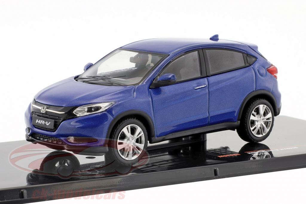 ixo-1-43-honda-hr-v-hybrid-annee-de-construction-2014-bleu-metallique-moc204/