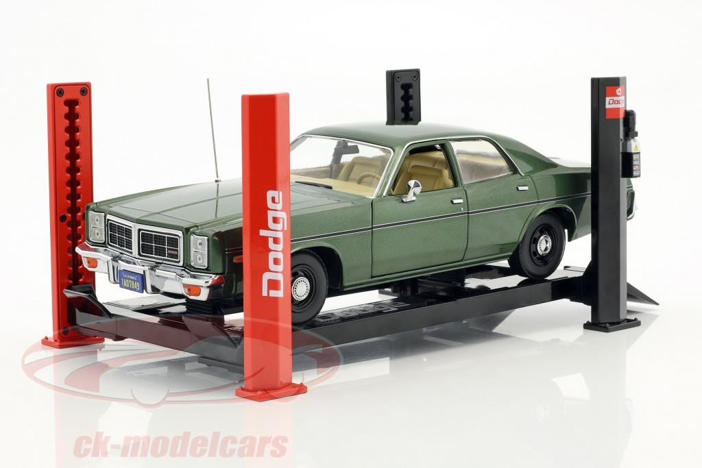 greenlight-1-18-reglable-quatre-courrier-hydraulique-rampe-dodge-rouge-noir-pour-modele-voitures-en-13518/