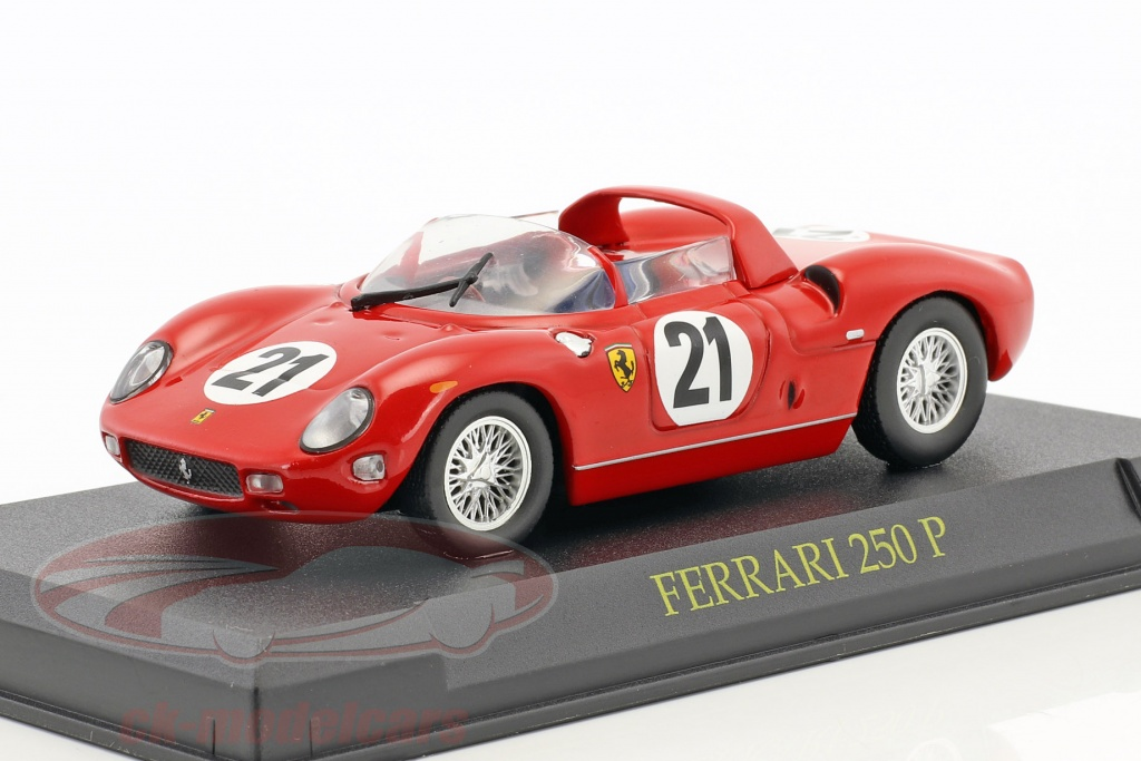 altaya-1-43-ferrari-250p-no21-winner-24h-lemans-1963-scarfiotti-bandini-mag-kj09/