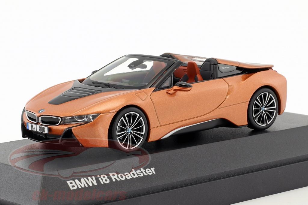 minichamps-1-43-bmw-i8-roadster-anno-di-costruzione-2018-rame-metallico-nero-80422454785/