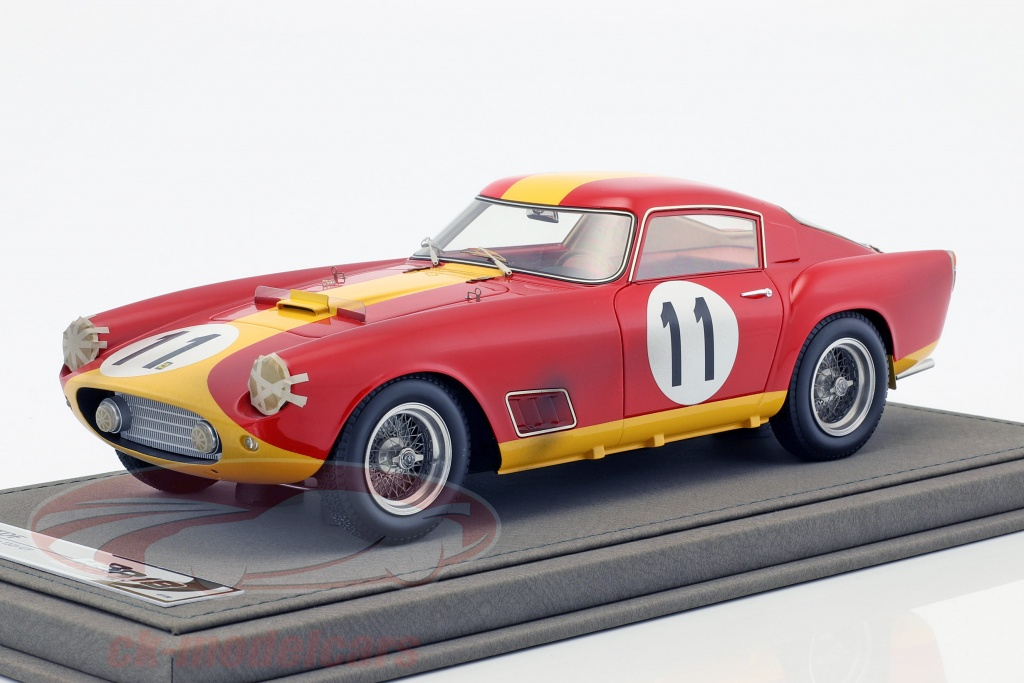 bbr-models-1-18-ferrari-250-tdf-no11-klassensieger-24h-lemans-1959-dirty-version-mit-vitrine-bbr1829dirty/