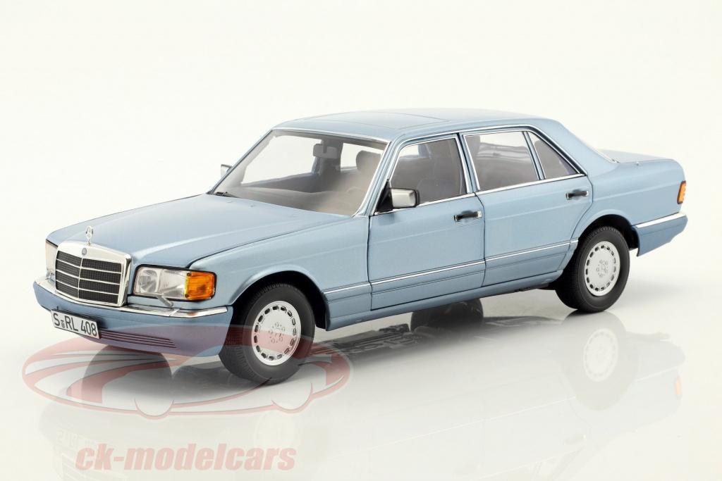 norev-1-18-mercedes-benz-560-sel-w126-annee-de-construction-1991-perle-bleu-metallique-183464/