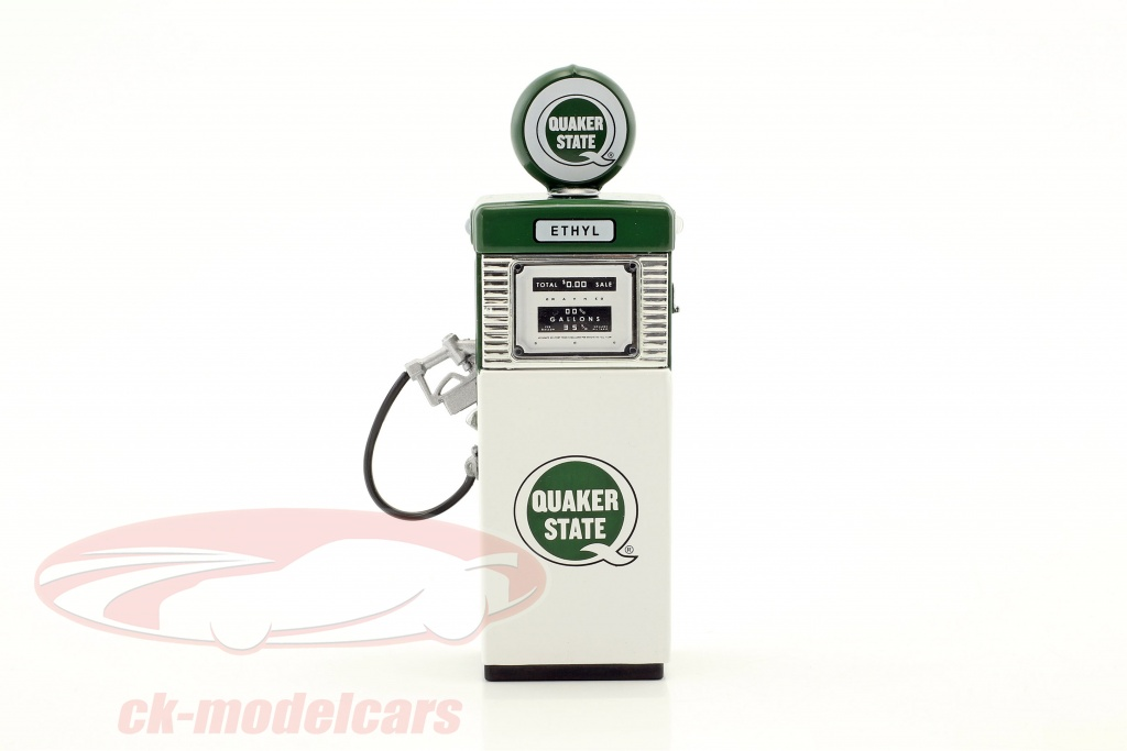 greenlight-1-18-wayne-505-quaker-state-gas-pump-1951-with-pump-light-green-white-14050-a/