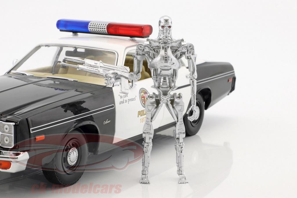 greenlight-1-18-dodge-monaco-metropolitan-police-year-1977-movie-terminator-1984-with-t-800-figure-19042/