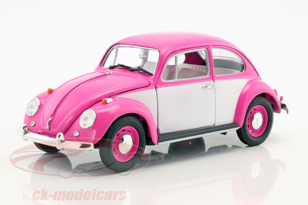 greenlight-1-18-volkswagen-vw-coleoptere-rhd-annee-de-construction-1967-rose-blanc-13512/