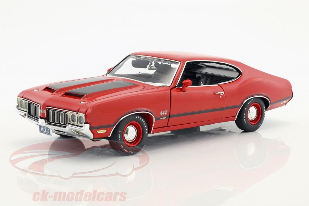 gmp-1-18-oldsmobile-442-w-30-annee-de-construction-1970-matador-rouge-1805608/