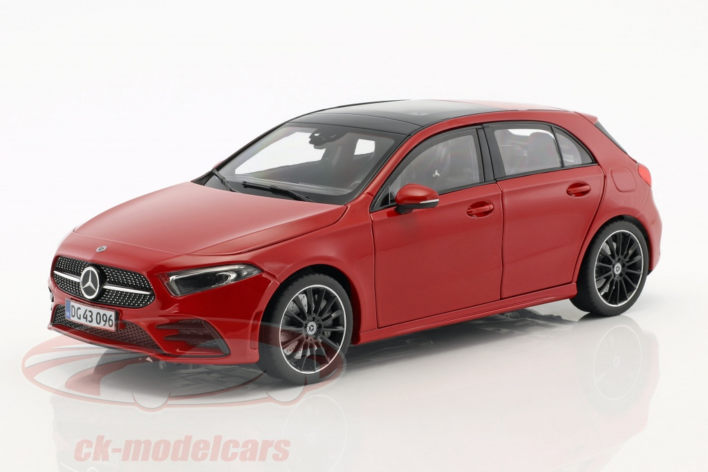 norev-1-18-mercedes-benz-a-class-w177-year-2018-red-183594/