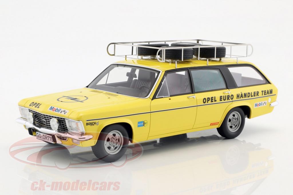premium-classixxs-opel-admiral-b-caravan-construction-year-1974-opel-euro-haendler-team-yellow-1-18-pcl30100/