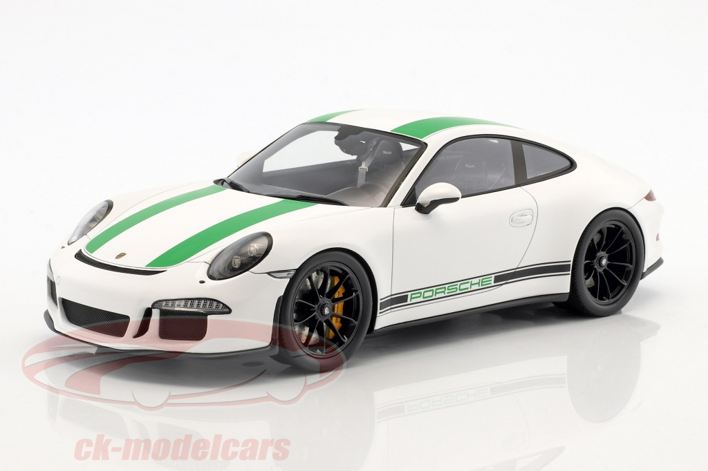 spark-1-18-porsche-911-r-year-2017-white-green-18s236/