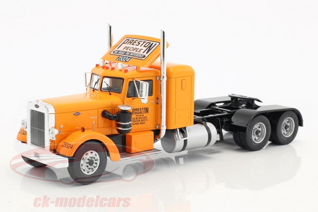 ixo-1-43-peterbilt-350-camion-preston-people-annee-de-construction-1952-orange-creme-blanc-ttr003/