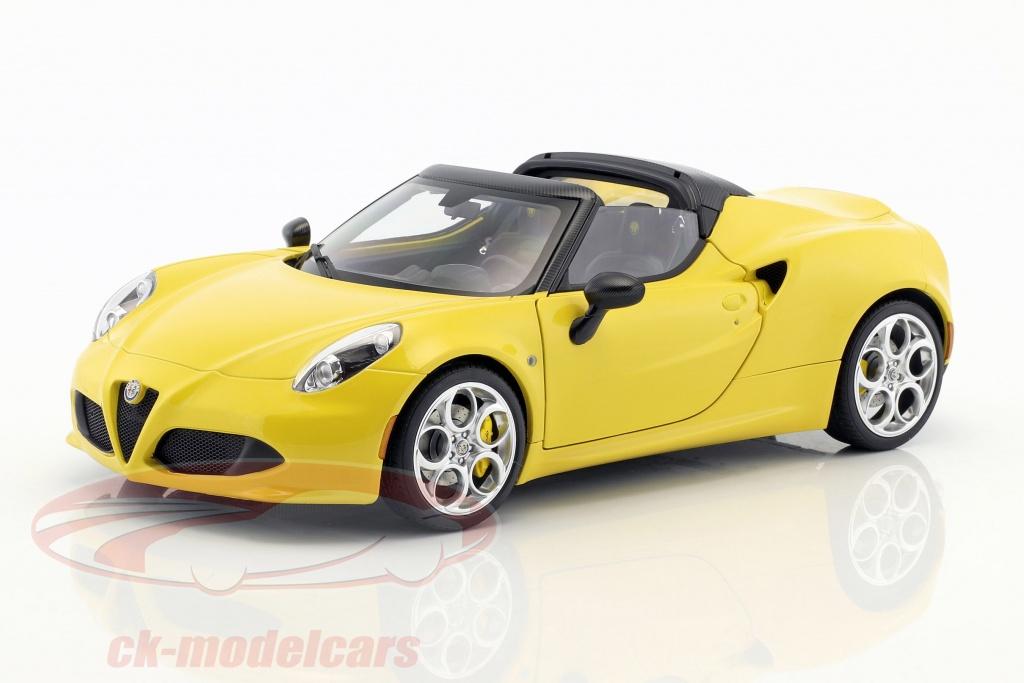 autoart-1-18-alfa-romeo-4c-spider-con-removibile-top-anno-di-costruzione-2015-giallo-70143/