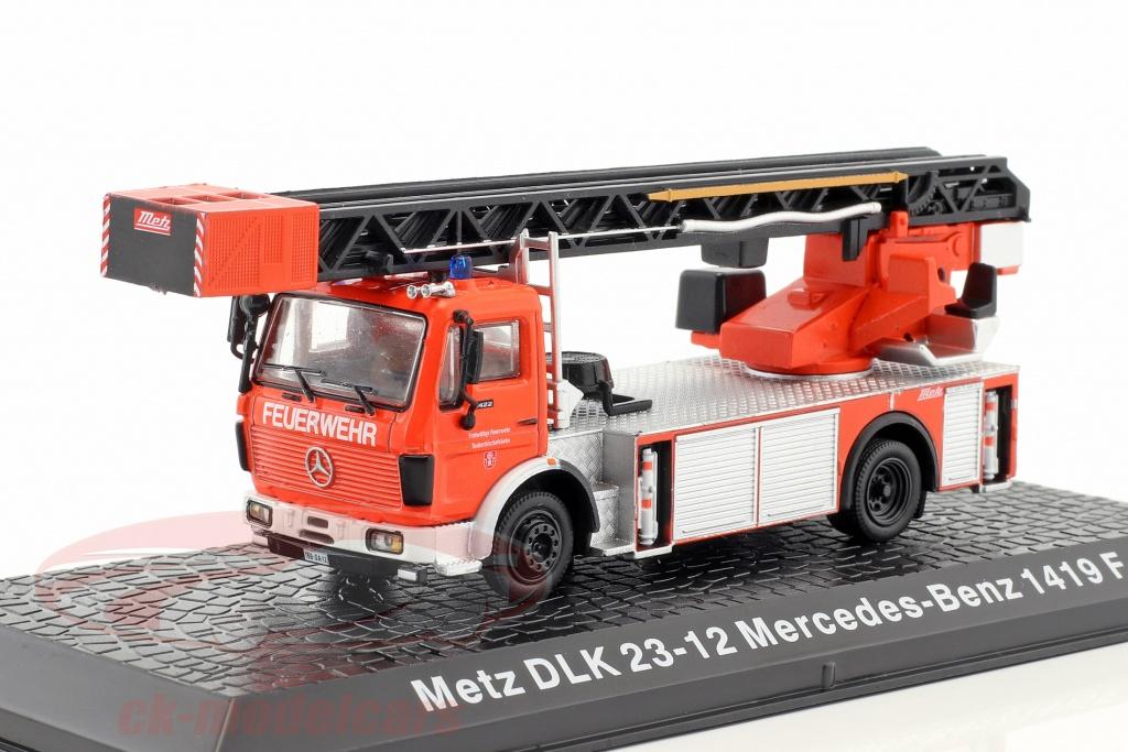 altaya-1-72-mercedes-benz-1419-f-metz-dlk-23-12-pompiers-rouge-ck49155/