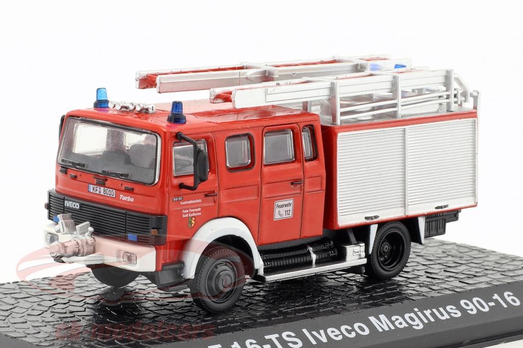 altaya-1-72-iveco-magirus-90-16-lf-16-ts-pompiers-kaufbeuren-rouge-ck49149/