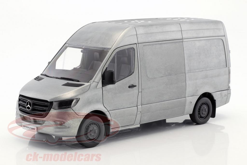 norev-1-18-mercedes-benz-sprinter-van-annee-de-construction-2018-robuste-edition-argent-gris-b66006029/