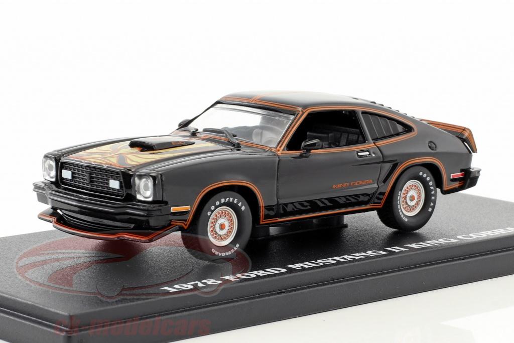 greenlight-1-43-ford-mustang-ii-king-cobra-annee-de-construction-1978-noir-or-86320/