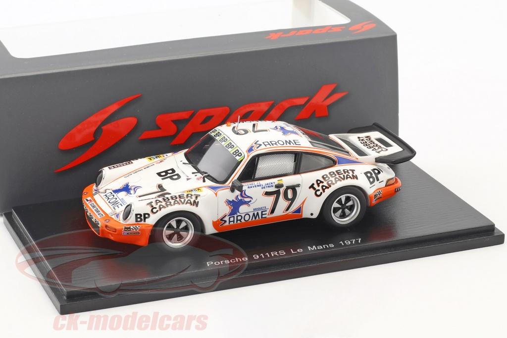 spark-1-43-porsche-911-carrera-rs-no79-24h-lemans-1977-j-l-ravenel-j-ravenel-detrin-s5519/