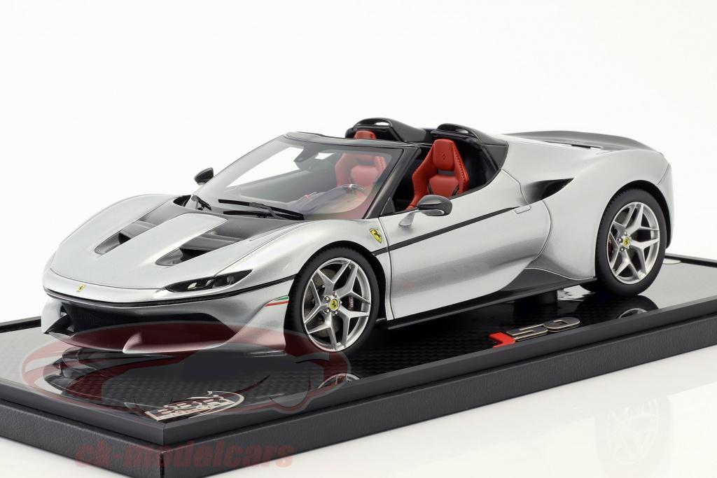 bbr-models-1-18-ferrari-j50-roadster-annee-de-construction-2016-pur-metal-argent-p18156d/