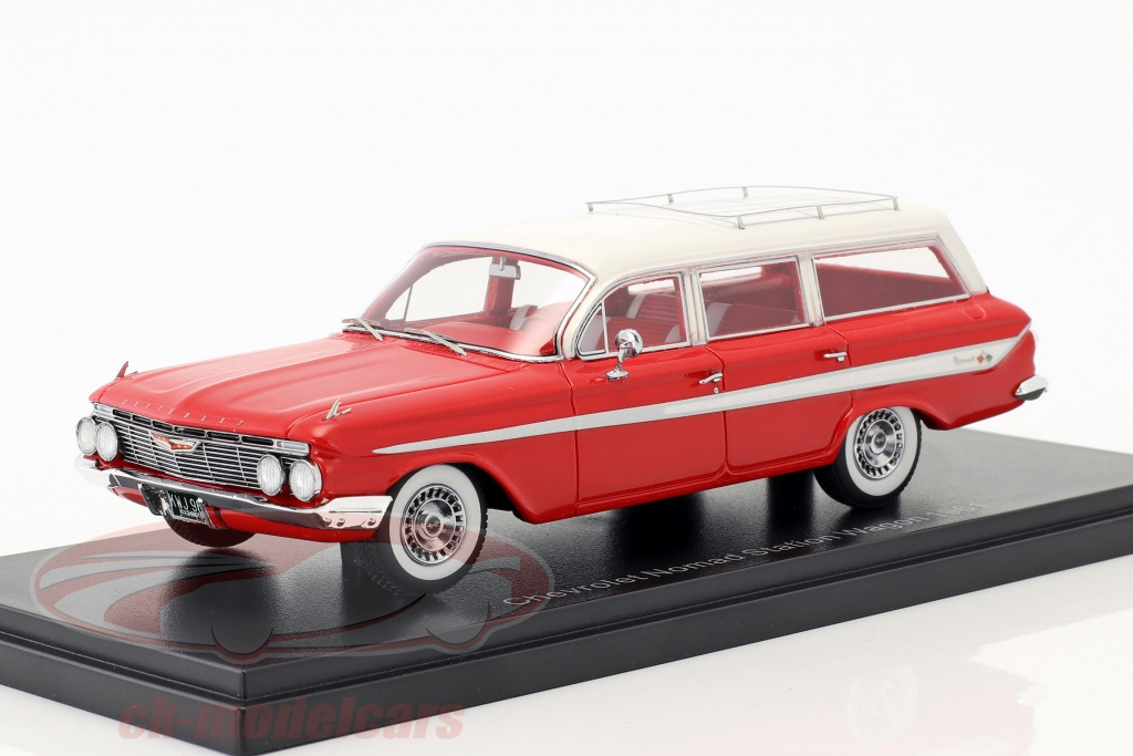 neo-1-43-chevrolet-nomad-station-wagon-annee-de-construction-1961-rouge-blanc-neo46965/