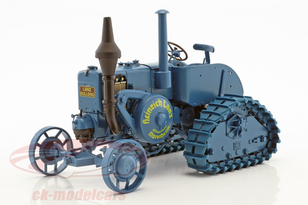 schuco-1-18-lanz-bulldog-la-meta-caterpillar-blu-450011900/