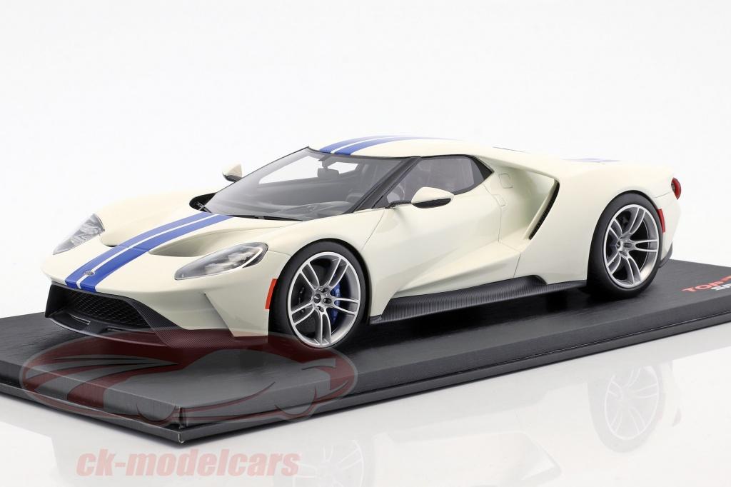true-scale-1-18-ford-gt-bianco-con-blu-strisce-ts0093/