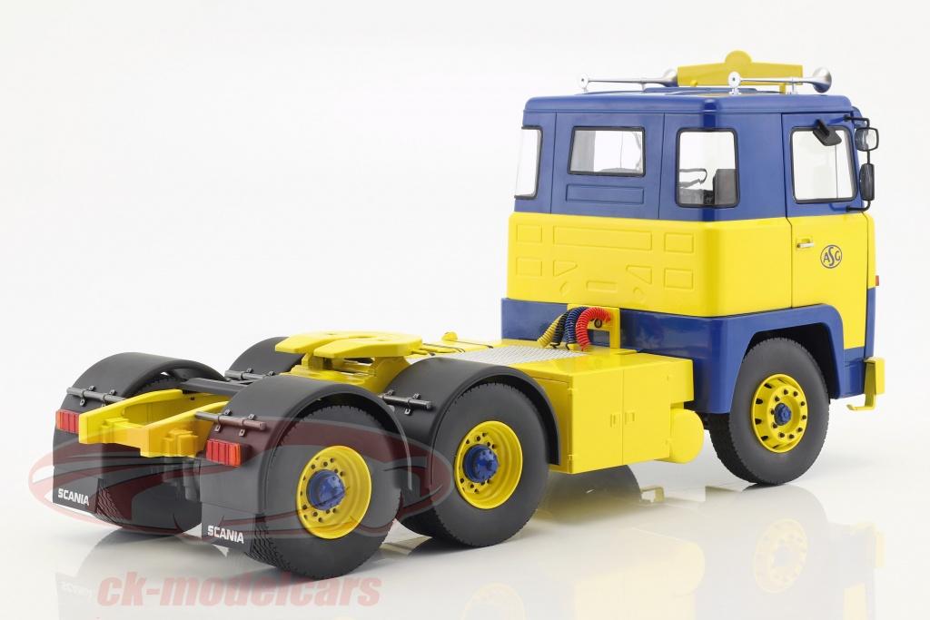 1:18 ROAD KINGS   />/> NEW /</< Scania LBT 141 1976 gelb//blau