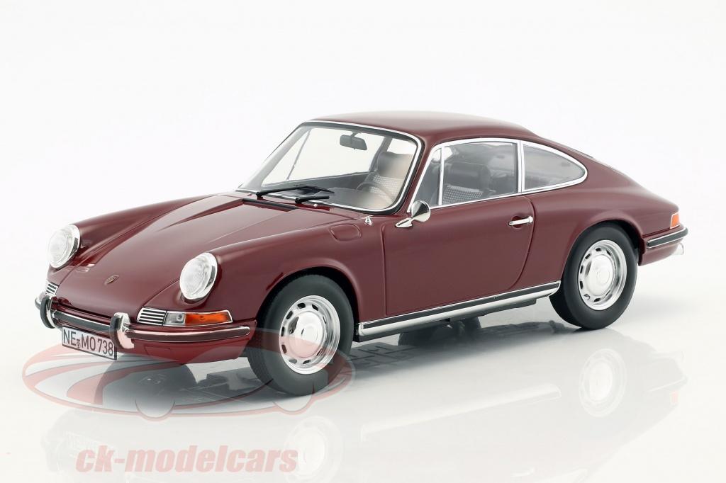 norev-1-18-porsche-911-t-year-1969-dark-red-187630/