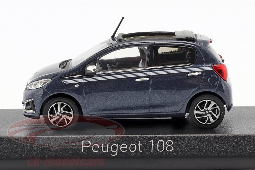 Peugeot 108 Top Collection 2017 Blau Metallic Modellauto 1 43 Norev Auto Verkehrsmodelle Teile Zubehor Modellbau Modellautos Lkws Busse Modellbau