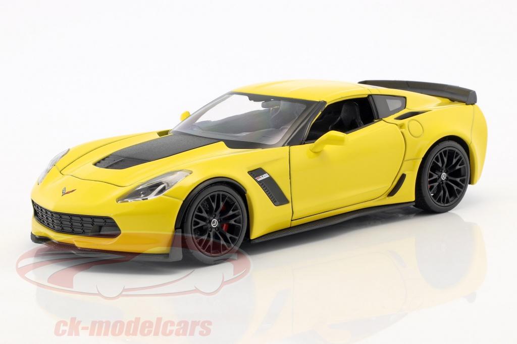 welly-1-24-chevrolet-corvette-z06-ano-de-construcao-2017-amarelo-24085y/