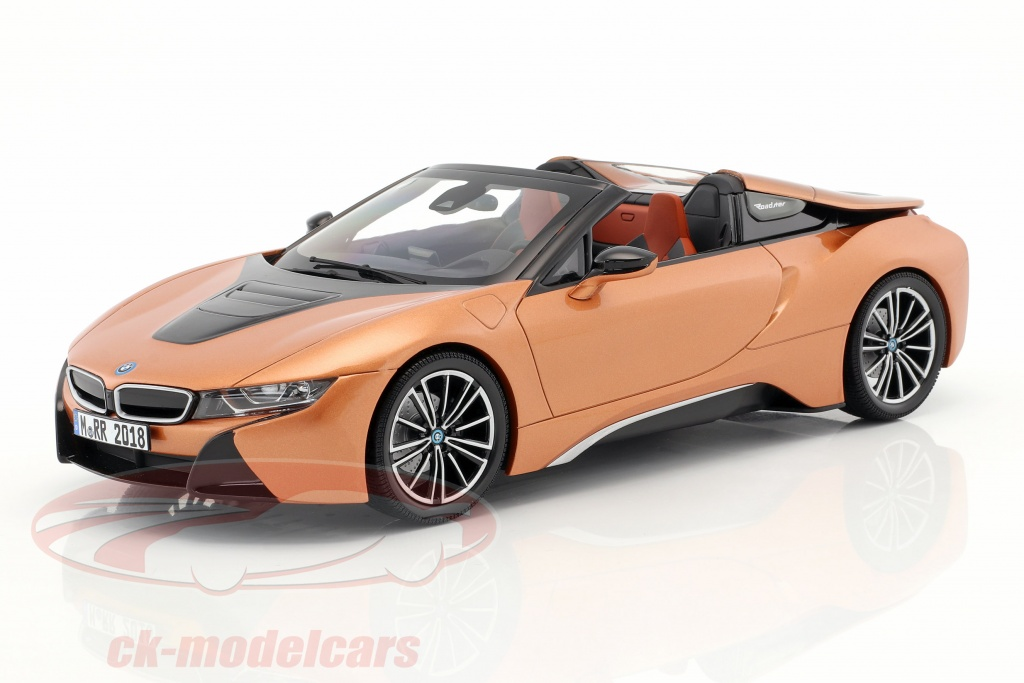 Minichamps 1 18 Bmw I8 Roadster Year 2018 Copper Metallic Black