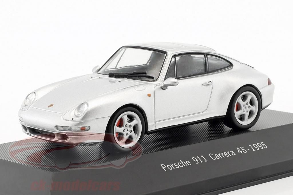 atlas-1-43-porsche-911-993-carrera-4s-annee-de-construction-1995-argent-metallique-4009-7114009/