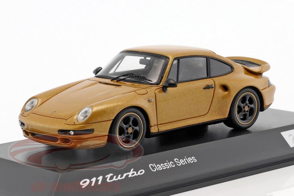 spark-1-43-porsche-911-993-turbo-classic-series-project-gold-annee-de-construction-2018-or-metallique-jaune-wax02020993/