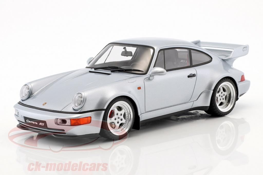 gt-spirit-1-18-porsche-911-964-carrera-rs-38-year-1990-polar-silver-gt735/