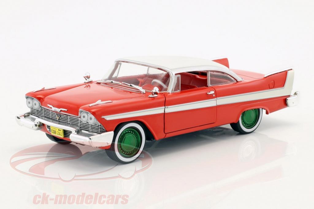 greenlight-1-24-plymouth-fury-bouwjaar-1958-film-christine-1983-rood-wit-zilver-groen-84071-gruene-version/