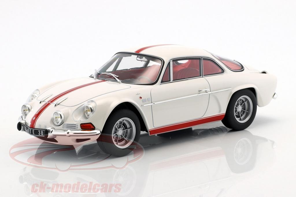 norev-1-18-alpine-renault-a110-1600s-anno-di-costruzione-1971-bianco-con-rosso-strippaggio-185303/