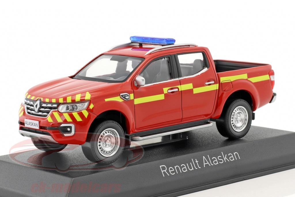 norev-1-43-renault-alaskan-pick-up-pompiers-ano-de-construccion-2017-rojo-amarillo-518393/