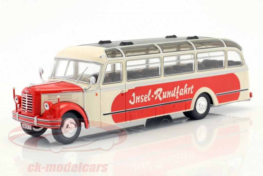 ixo-1-43-borgward-bo-4000-le-tour-annee-de-construction-1952-beige-rouge-bus014/