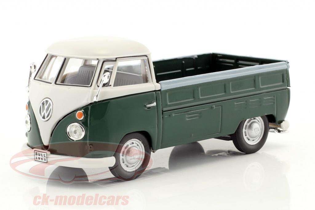 cararama-1-43-volkswagen-vw-t1-pick-up-opfrselsr-1960-mrkegrn-hvid-13400-251pnd4g/