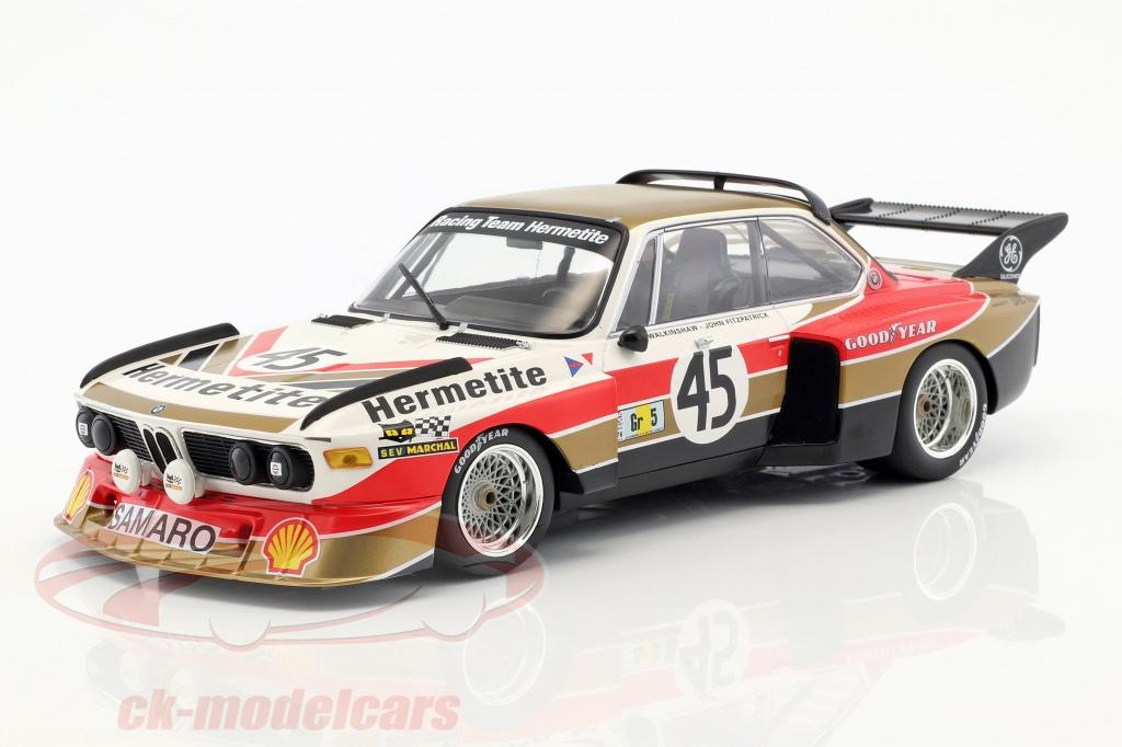 Minichamps 1:18 BMW 3 5 CSL #45 24h Le Mans 1976 Fitzpatrick