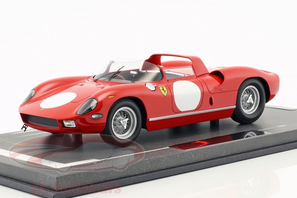 bbr-models-1-18-ferrari-250-p-tryk-udgave-1963-rosso-corsa-bbrc1826a/