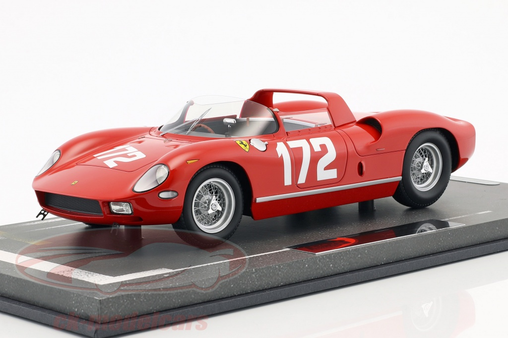 bbr-models-1-18-ferrari-250-p-no172-targa-florio-1963-scarfiotti-mairesse-bbrc1826e/